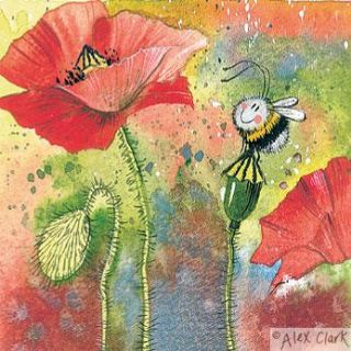 Mini Poppy Bee by Alex Clark